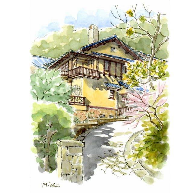 ペンの線を生かす水彩スケッチ/日本ペン彩画会